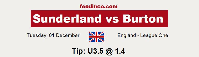 Sunderland v Burton Prediction