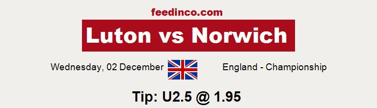 Luton v Norwich Prediction