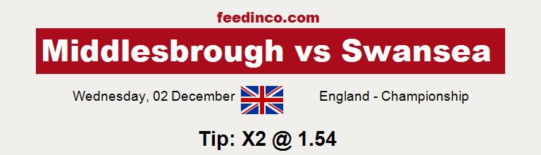 Middlesbrough v Swansea Prediction