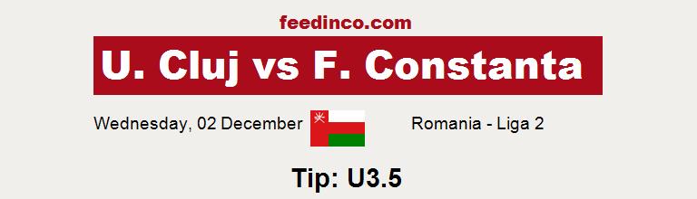 U. Cluj v F. Constanta Prediction