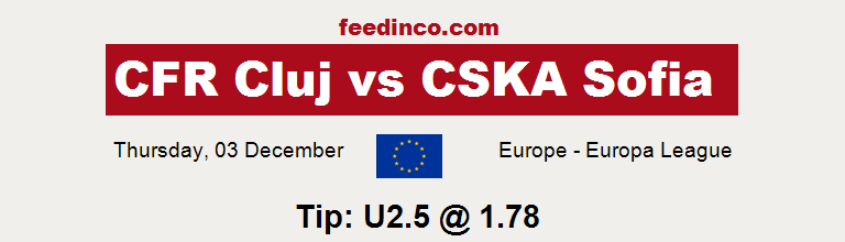 CFR Cluj v CSKA Sofia Prediction