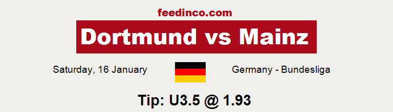 Dortmund v Mainz Prediction