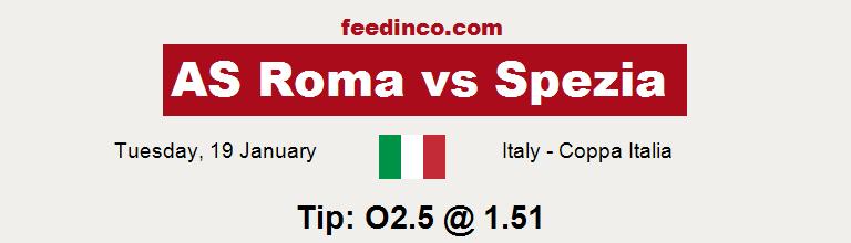 AS Roma v Spezia Prediction