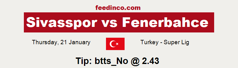 Sivasspor v Fenerbahce Prediction