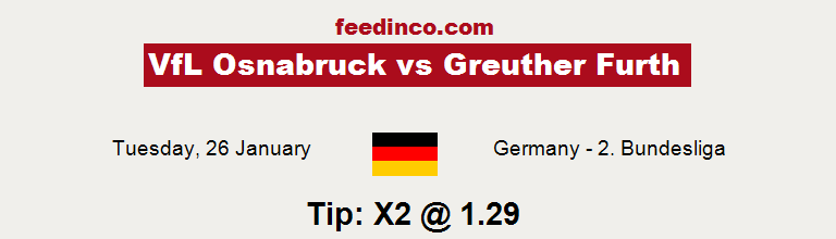 VfL Osnabruck v Greuther Furth Prediction
