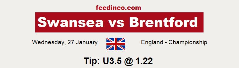 Swansea v Brentford Prediction
