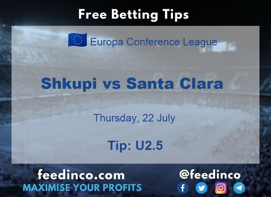 Shkupi vs Santa Clara Prediction