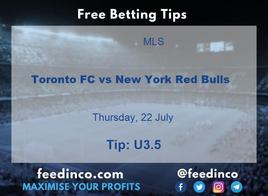 Toronto FC vs New York Red Bulls Prediction