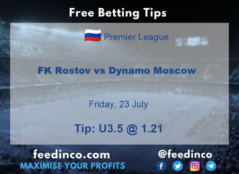 FK Rostov vs Dynamo Moscow Prediction