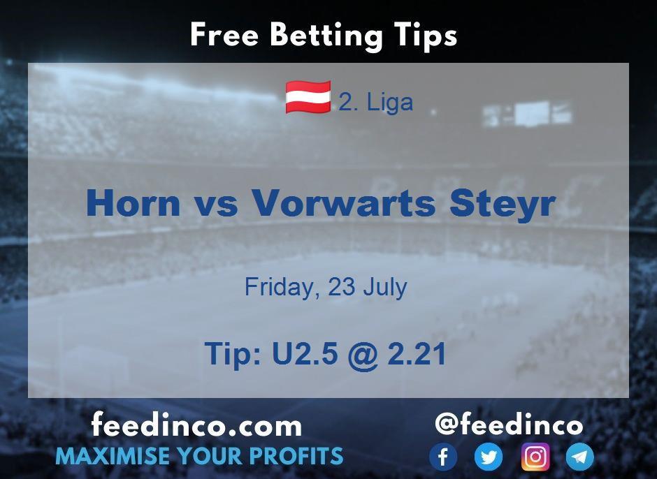 Horn vs Vorwarts Steyr Prediction