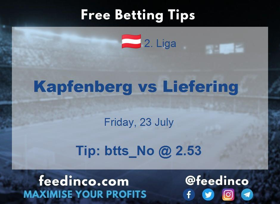 Kapfenberg vs Liefering Prediction