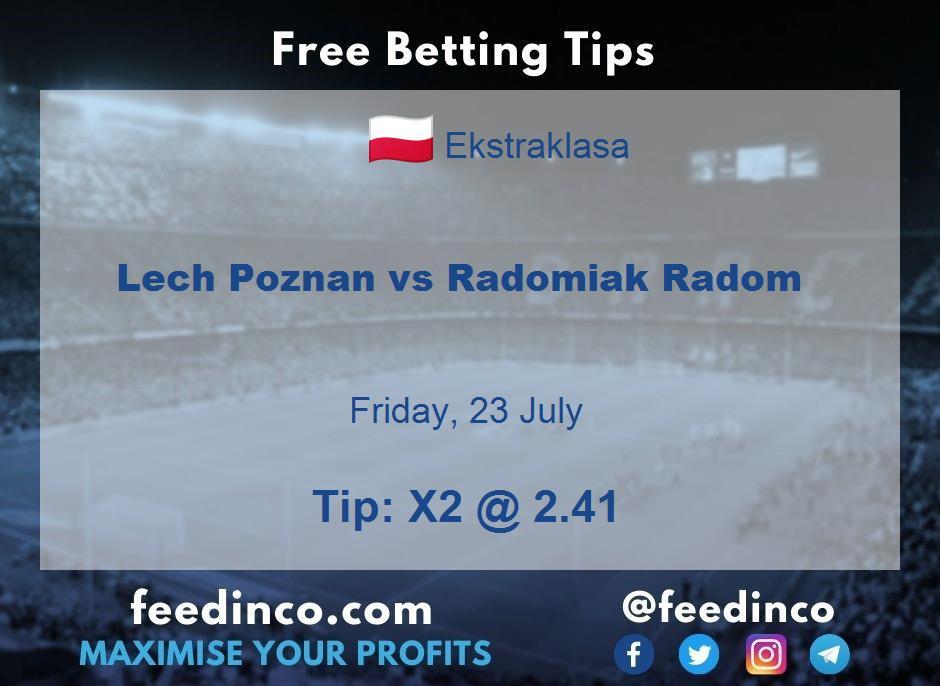 Lech Poznan vs Radomiak Radom Prediction