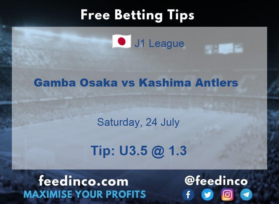 Gamba Osaka vs Kashima Antlers Prediction