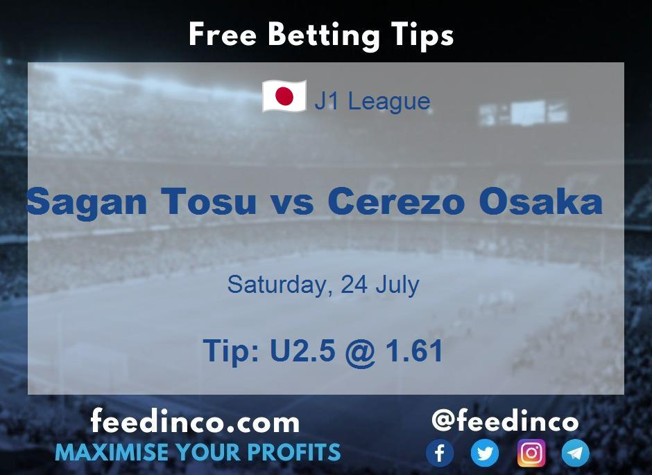 Sagan Tosu vs Cerezo Osaka Prediction