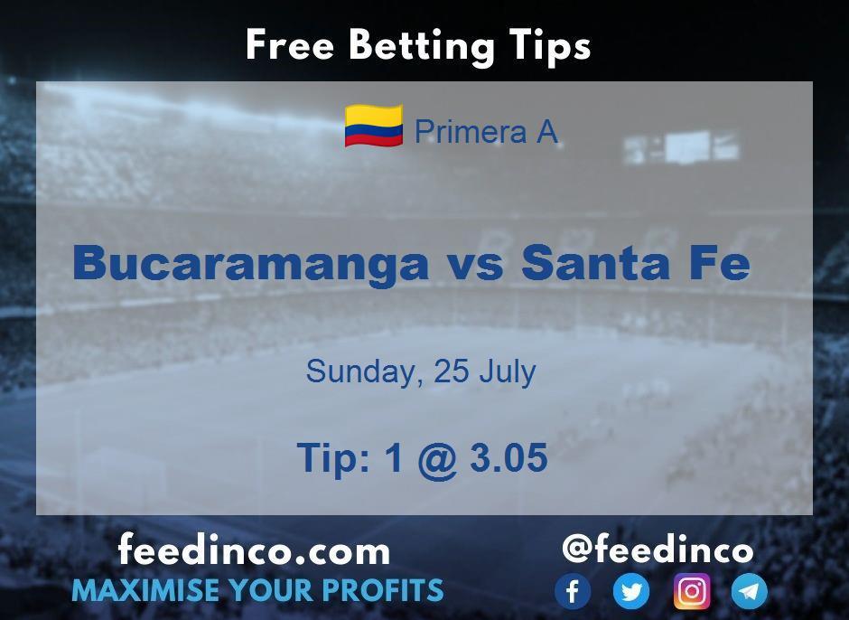 Bucaramanga vs Santa Fe Prediction