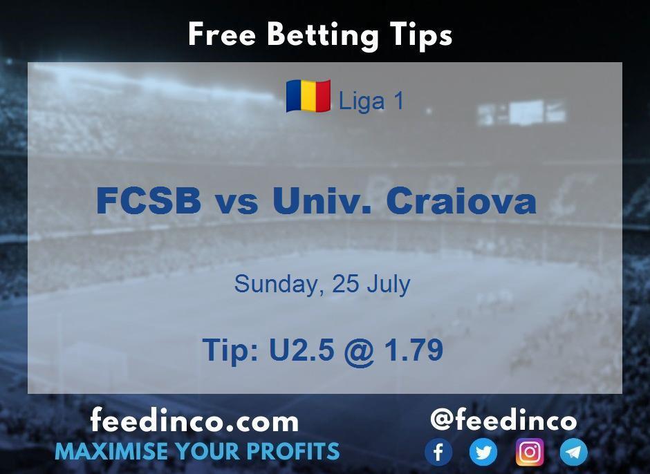 FCSB vs Univ. Craiova Prediction