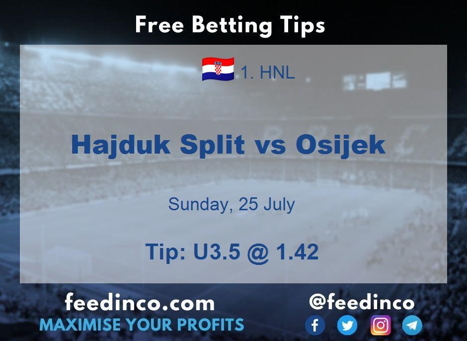 Hajduk Split vs Osijek Prediction