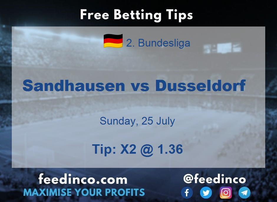 Sandhausen vs Dusseldorf Prediction