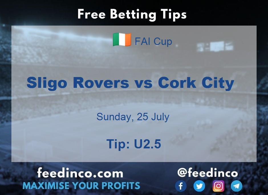 Sligo Rovers vs Cork City Prediction
