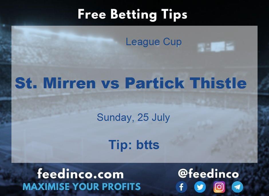 St. Mirren vs Partick Thistle Prediction