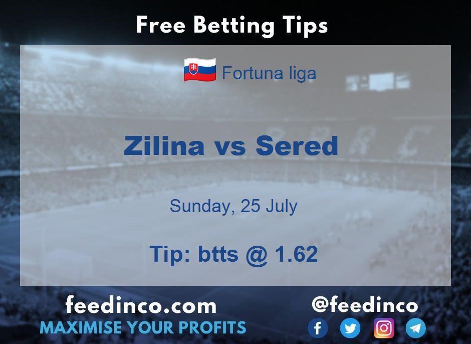 Zilina vs Sered Prediction