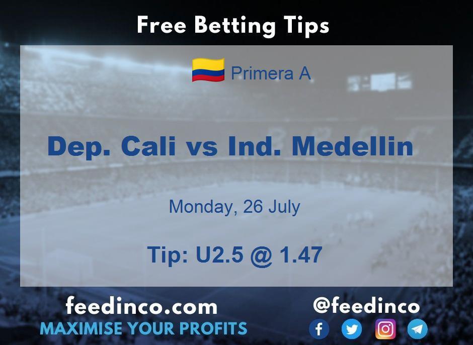 Dep. Cali vs Ind. Medellin Prediction