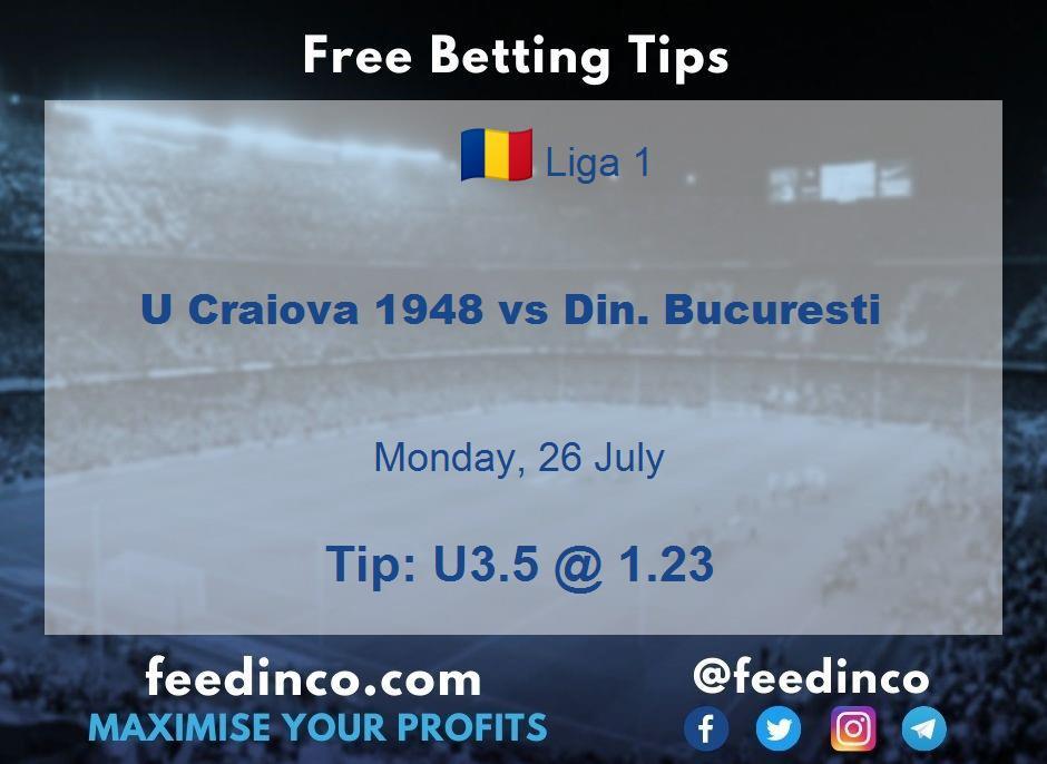 U Craiova 1948 vs Din. Bucuresti Prediction