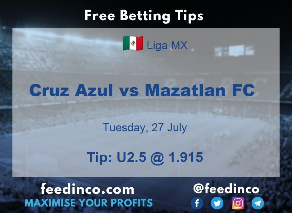 Cruz Azul vs Mazatlan FC Prediction