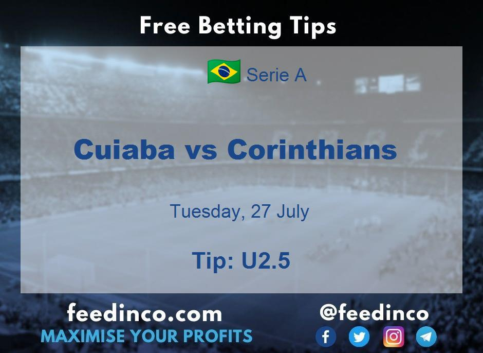 Cuiaba vs Corinthians Prediction