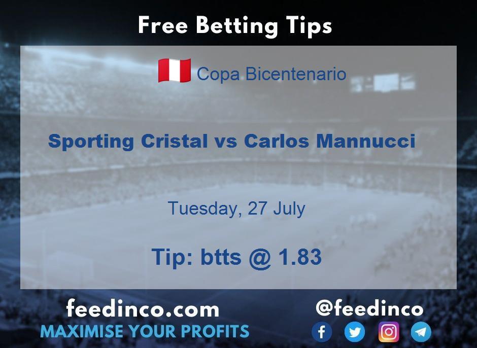 Sporting Cristal vs Carlos Mannucci Prediction