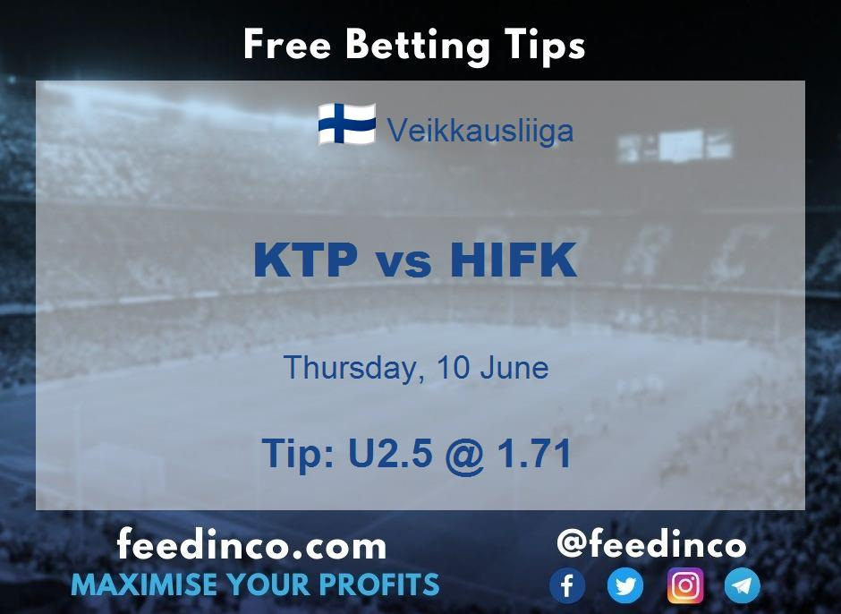 KTP vs HIFK Prediction