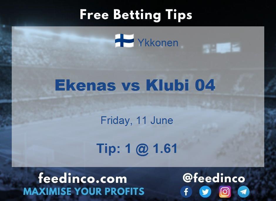 Ekenas vs Klubi 04 Prediction