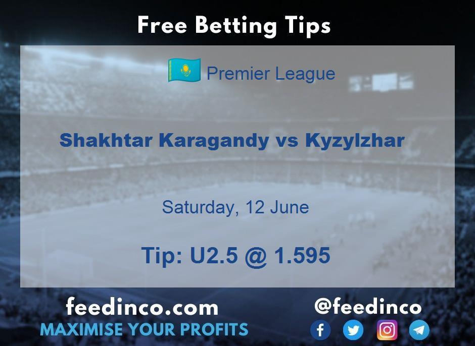 Shakhtar Karagandy vs Kyzylzhar Prediction