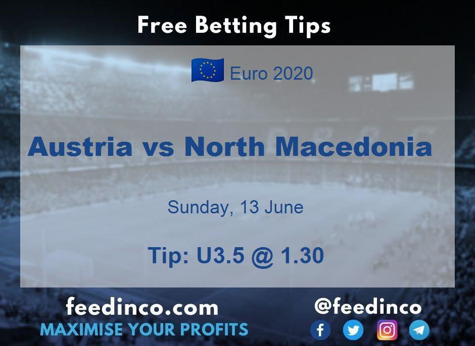 Austria vs North Macedonia Prediction