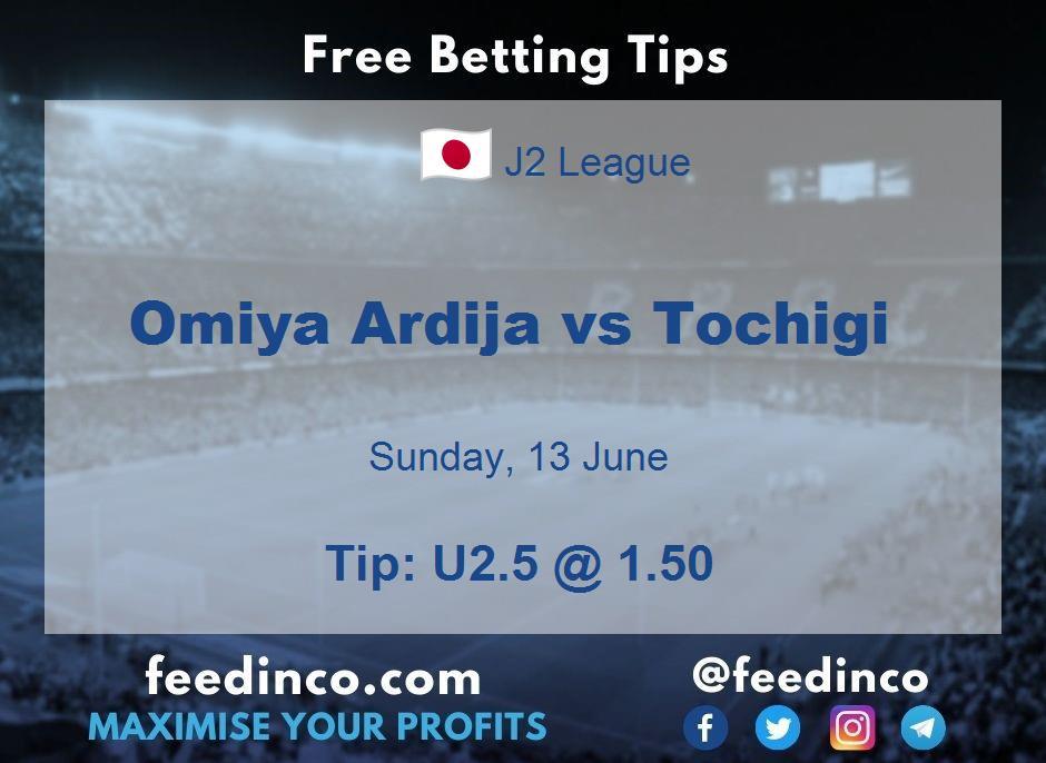 Omiya Ardija vs Tochigi Prediction