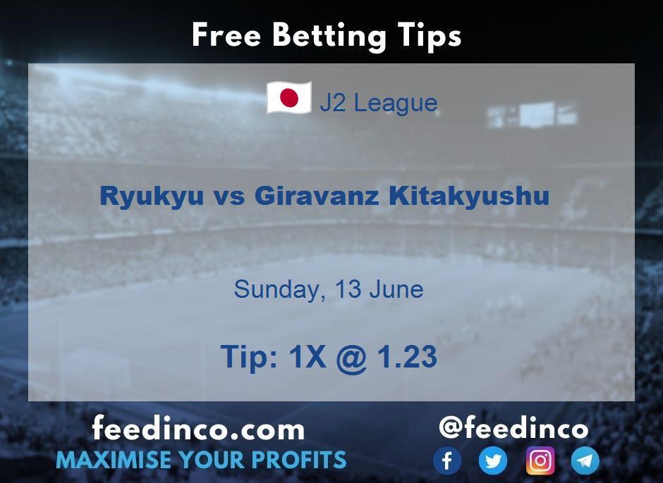 Ryukyu vs Giravanz Kitakyushu Prediction