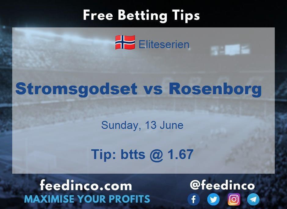 Stromsgodset vs Rosenborg Prediction