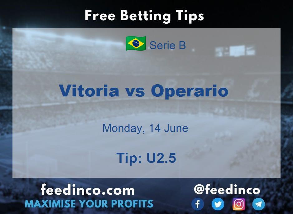 Vitoria vs Operario Prediction