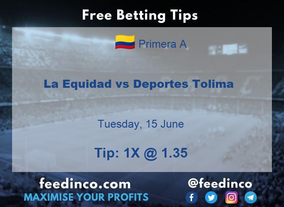 La Equidad vs Deportes Tolima Prediction