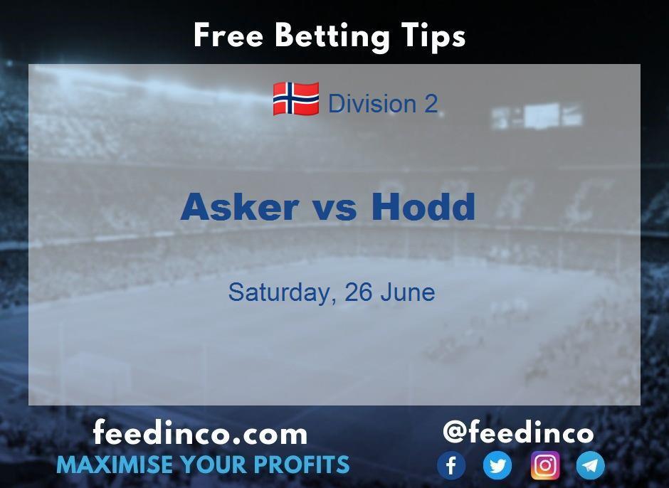 Asker vs Hodd Prediction