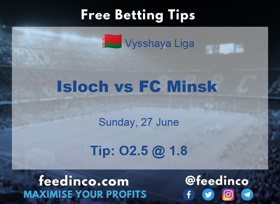 Isloch vs FC Minsk Prediction