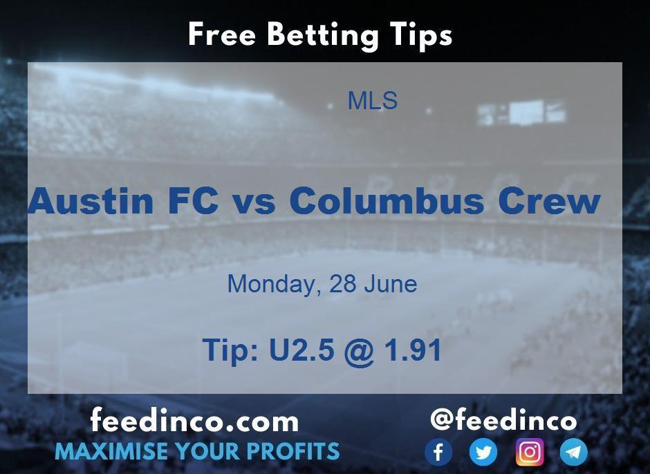 Austin FC vs Columbus Crew Prediction