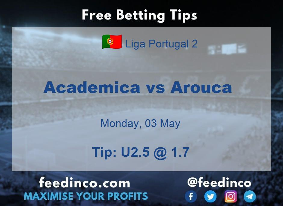 Academica vs Arouca Prediction