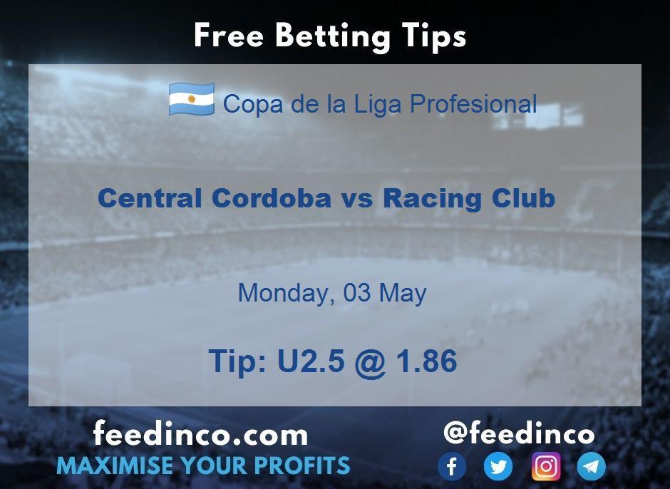 Central Cordoba vs Racing Club Prediction