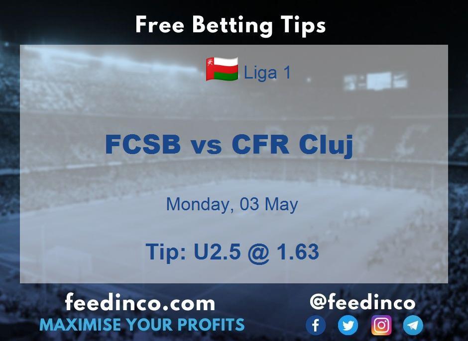 FCSB vs CFR Cluj Prediction