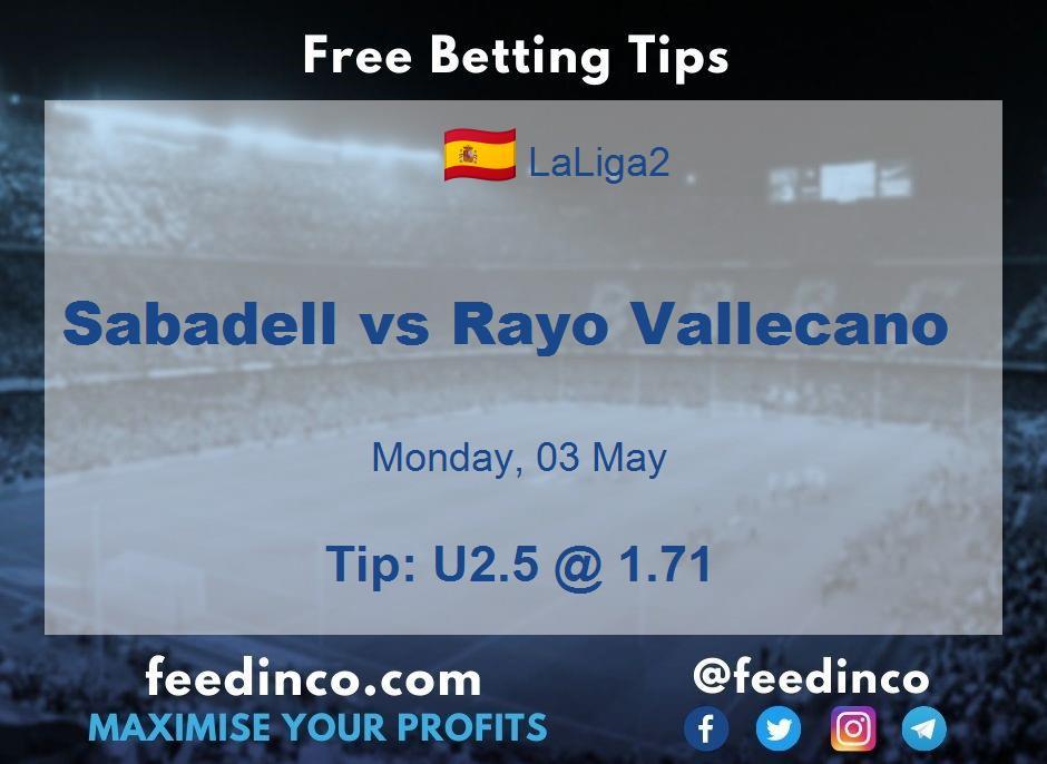 Sabadell vs Rayo Vallecano Prediction