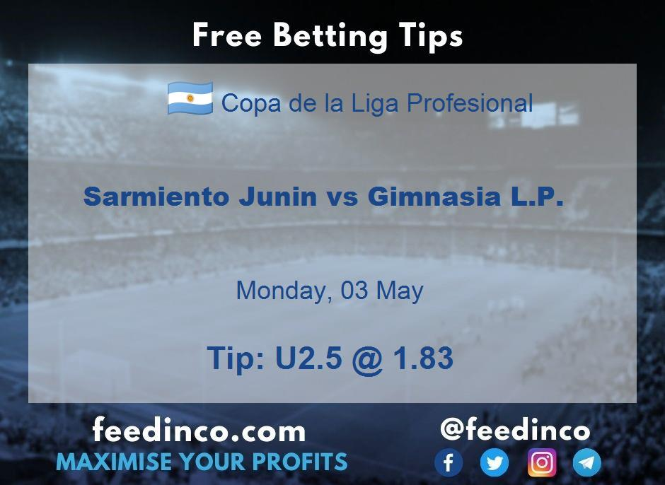 Sarmiento Junin vs Gimnasia L.P. Prediction