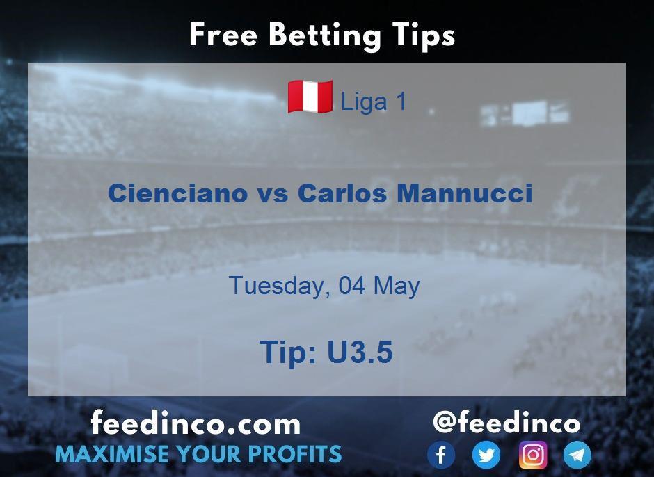 Cienciano vs Carlos Mannucci Prediction