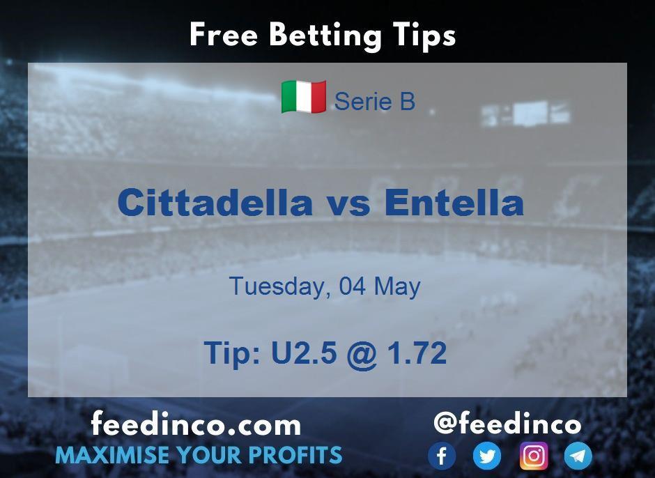 Cittadella vs Entella Prediction