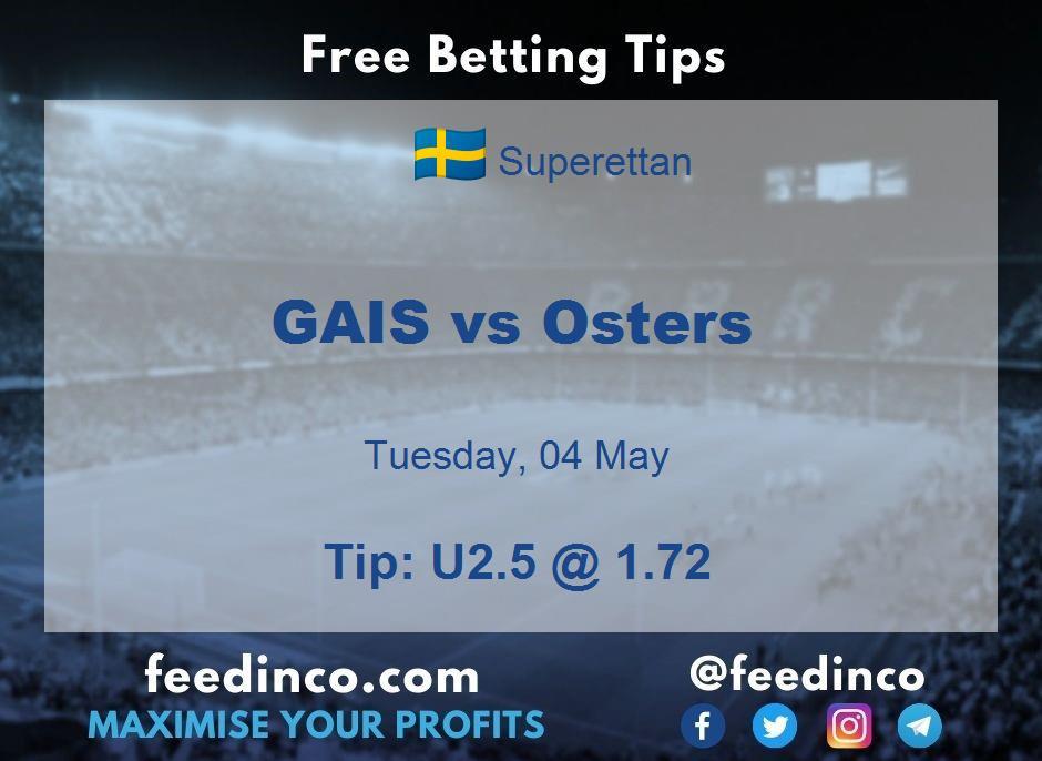 GAIS vs Osters Prediction
